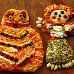 Create whimsical pizzas into festive shapes for the holidays.