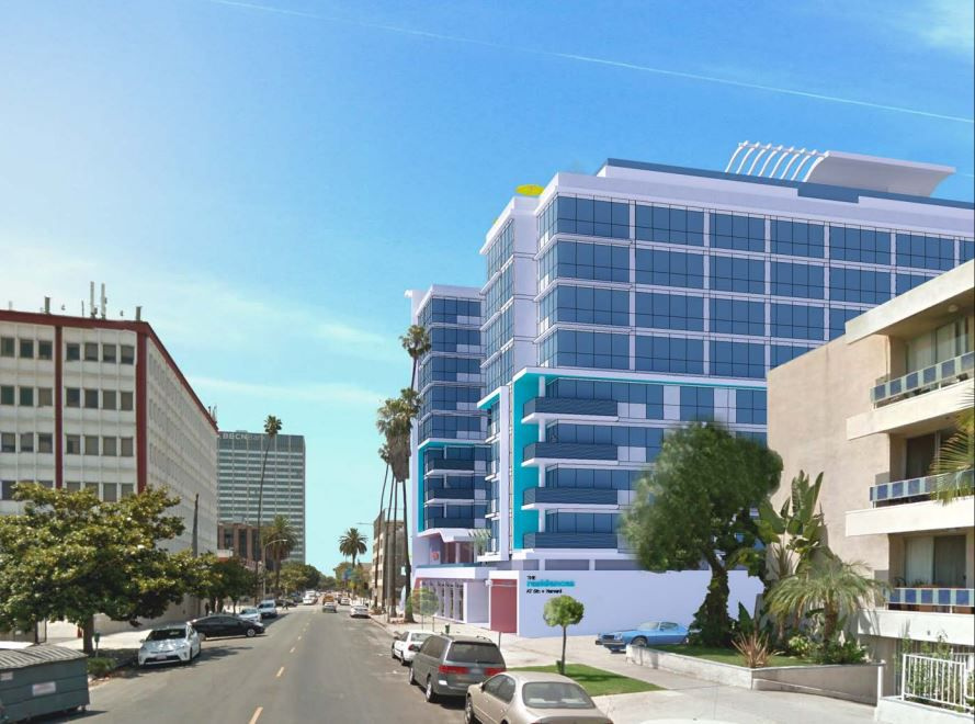 Rendering of project from the back