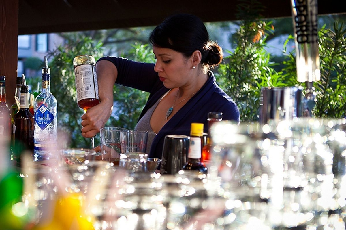 From a dinner at Kata Robata last year, Linda Salinas shows she can jump behind the bar when she's needed.