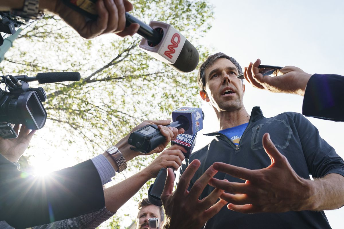 Beto O'Rourke holds a Pride Run on June 12 in New York City.