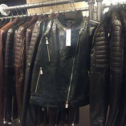 Leather jacket, $399
