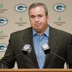 Green Bay Packers coach Mike McCarthy addresses reporters' questions about a controversial touchdown call on Monday Night Football during a press conference in Green Bay, Wis., on Tuesday, Sept. 25, 2012.