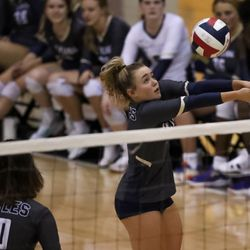 Brighton takes on Skyline in volleyball in Salt Lake City on Tuesday, Sept. 14, 2021.
