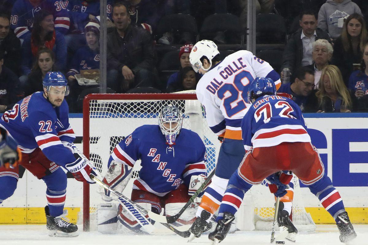 New York Islanders At New York Rangers Game 42 Lighthouse Hockey