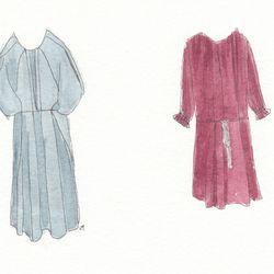 Left to right: kai-aakmann Pleated dress, $225, and Ulla Johnson Theodora dress, $368.