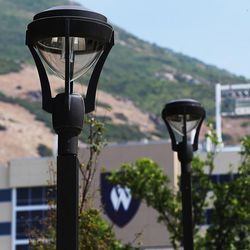 LED lights are in use at Weber State University in Ogden on Friday, Aug. 19, 2016.