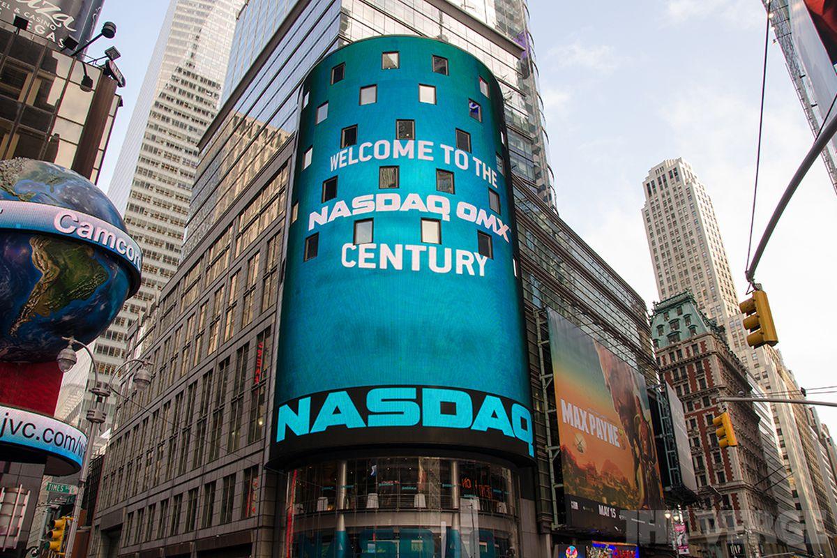 NASDAQ stock market temporarily