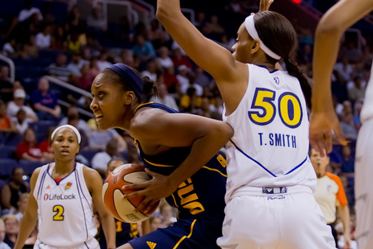 Tina Charles goes by Tangela Smith. (Photo by Ryan Malone)