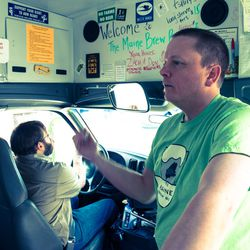 Don Littlefield on the Maine Brew Bus