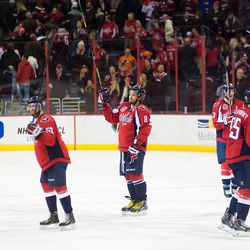 Ovechkin and Capitals Salute Fans