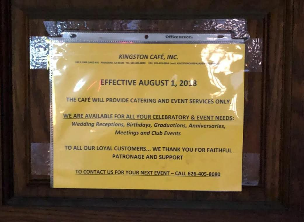 Pasadena's Longtime Jamaican Restaurant Kingston Cafe Closes