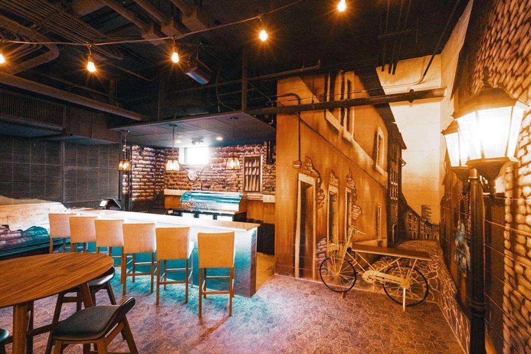 A coffee and sangria bar at Urban Roast DC