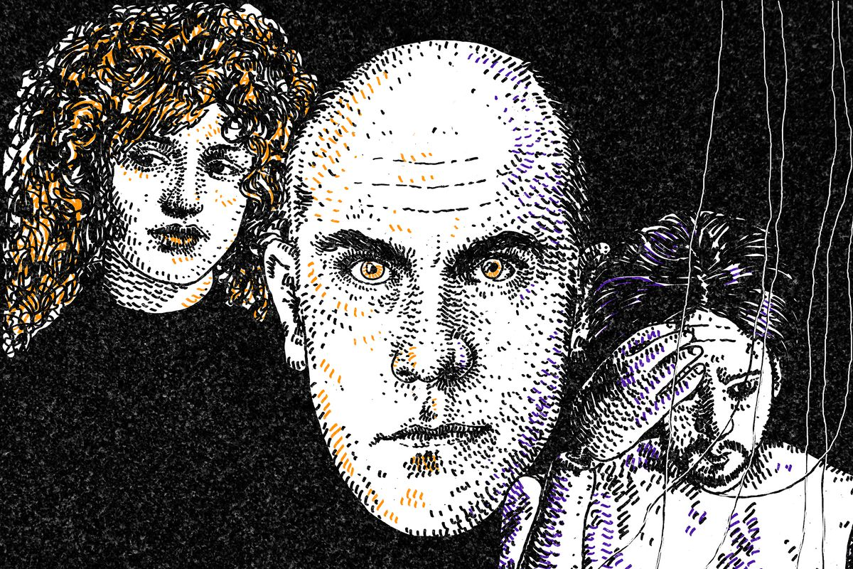 An illustration featuring John Malkovich in 'Being John Malkovich'