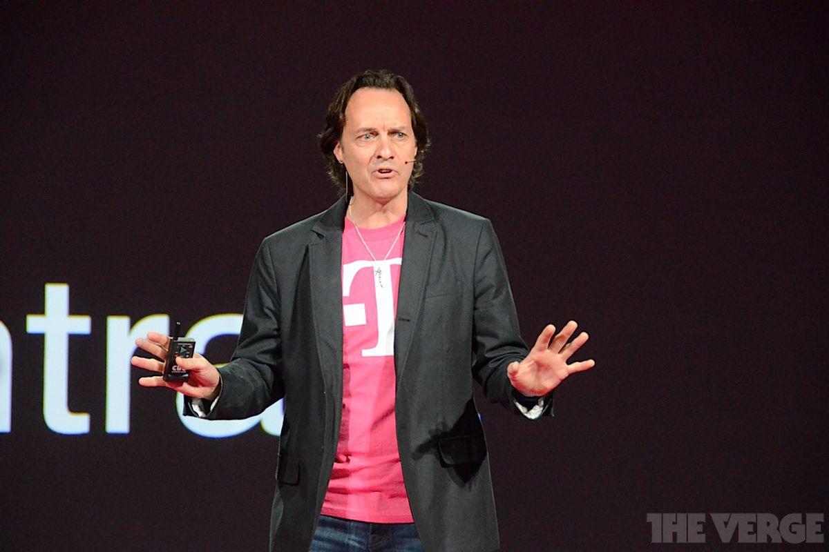 T-Mobile CEO John Legere - jazz hands