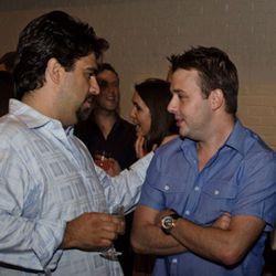 Victor Albisu (BLT Steak) and Adam Sobel (Bourbon Steak) maybe talking about steak?