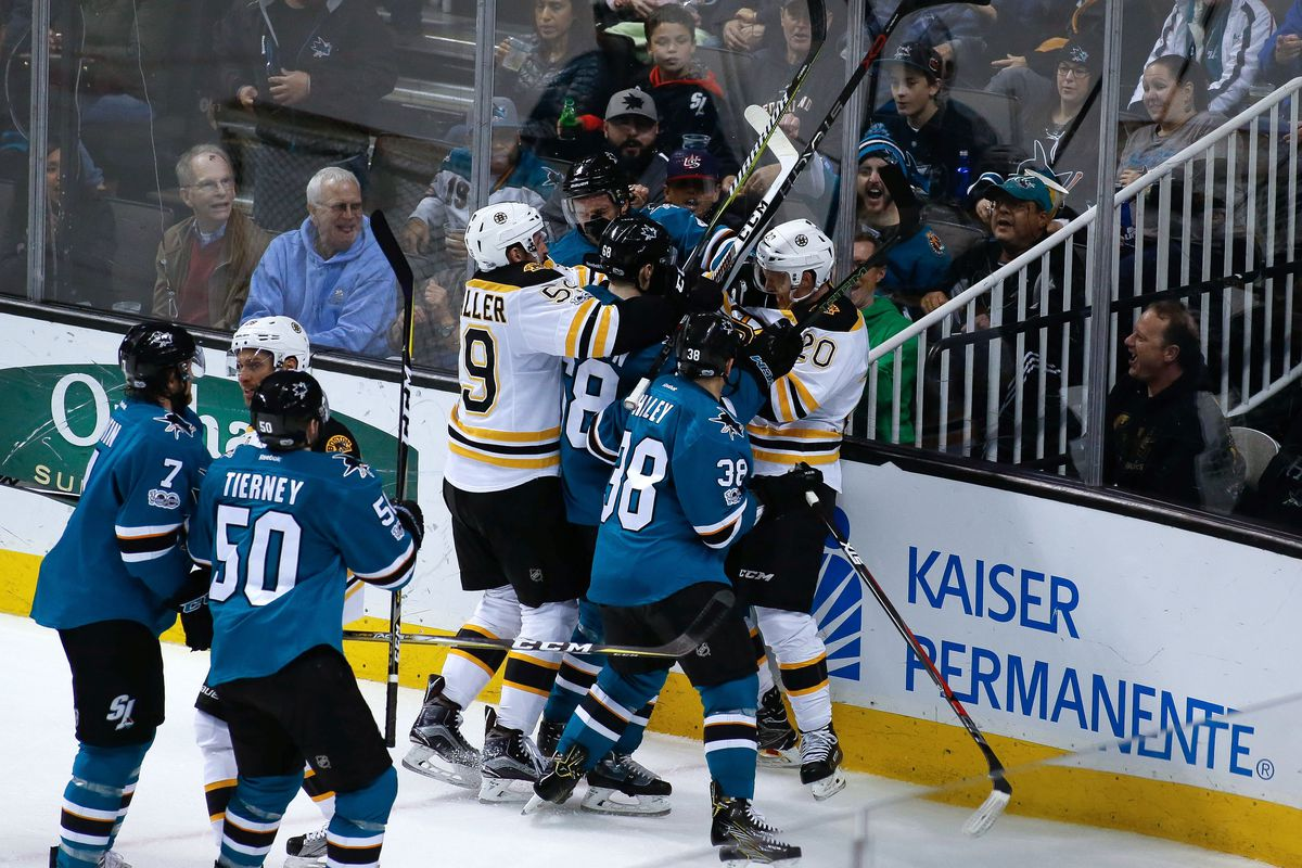 NHL: Boston Bruins at San Jose Sharks
