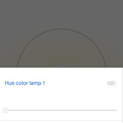From this screen you can control the brightness of specific lights or turn them on / off.  You can also tap name of a specific light and set its color.