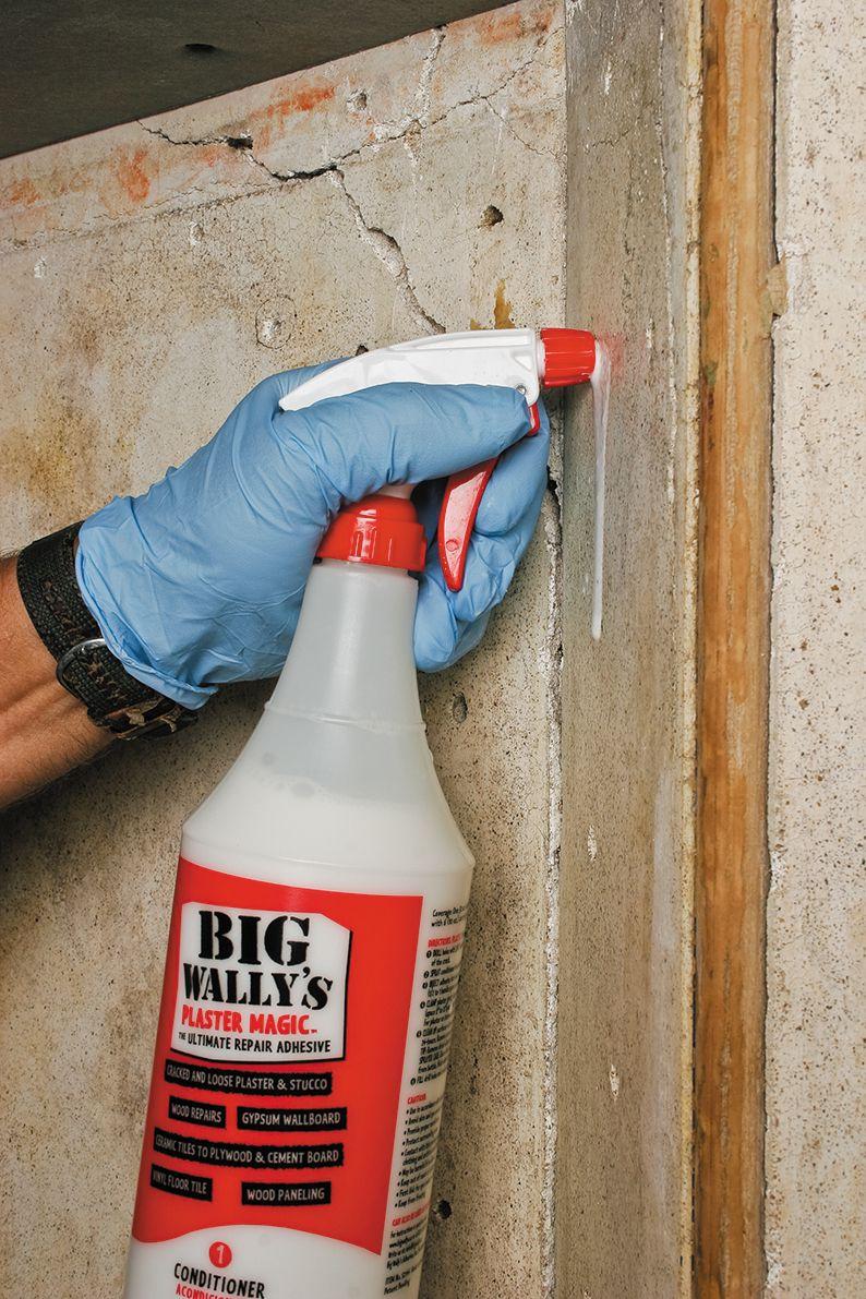 Man Sprays Acrylic Conditioner Into Holes