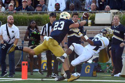 NCAA FOOTBALL: SEP 19 Georgia Tech at Notre Dame