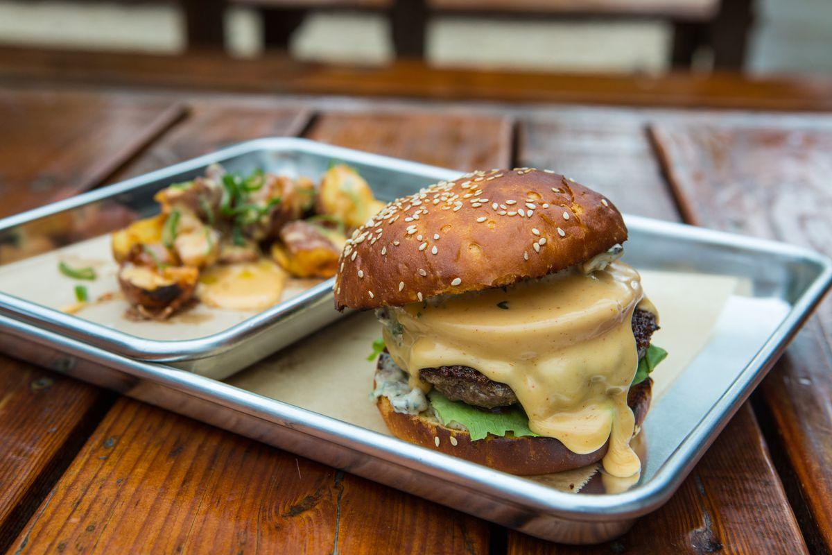 Sour Duck's burger