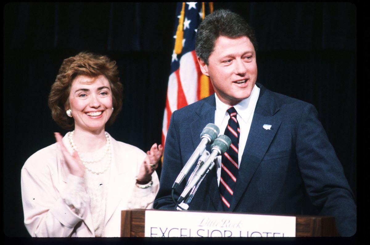 Hillary Rodham Clinton and Bill Clinton in 1987.