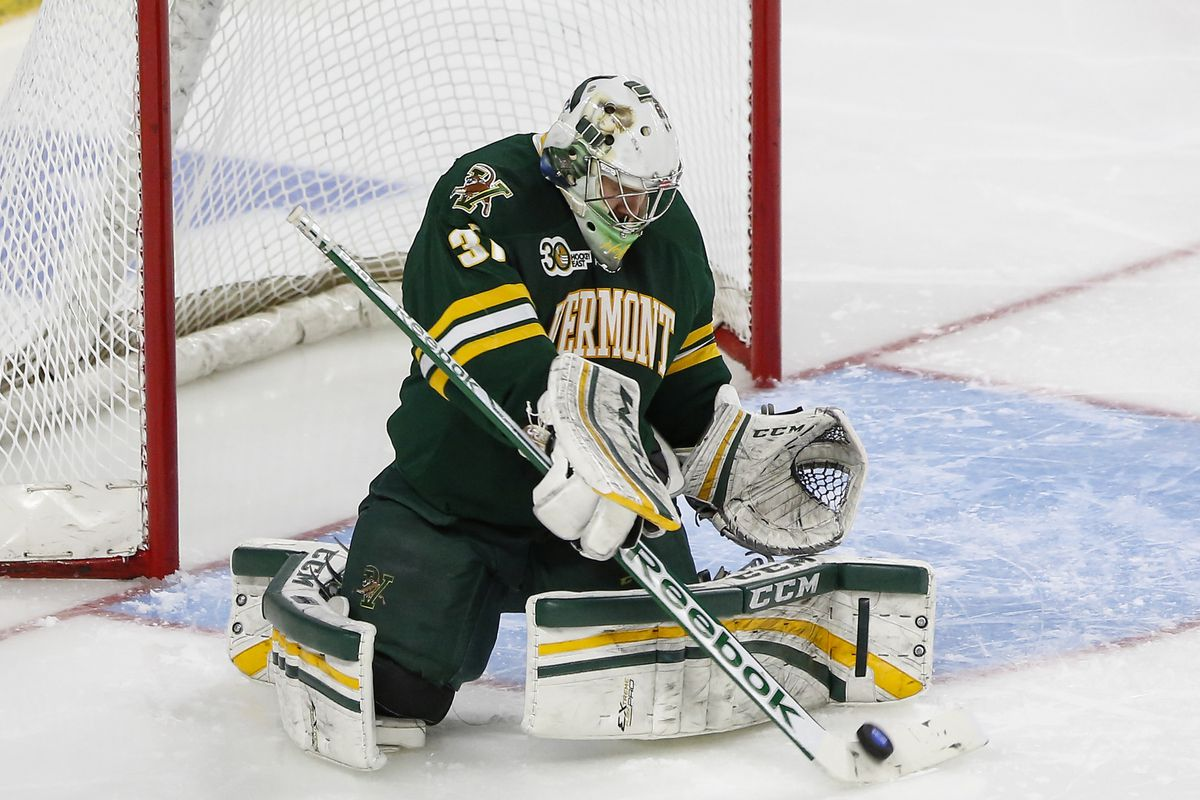 Brody Hoffman and the Vermont Catamounts have the best defense in Hockey East through the first month.