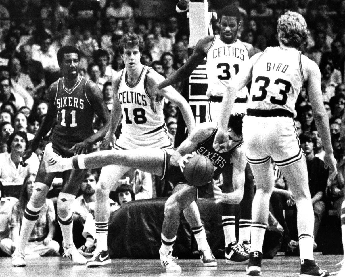 1980 NBA Playoffs: Philadelphia 76ers Va Boston Celtics At Boston Garden