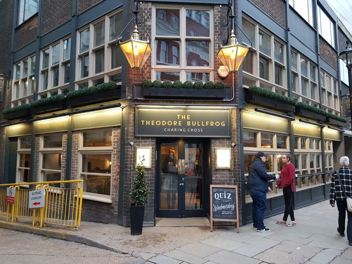 Best London restaurants on film and tv awards: The Bodyguard features the Theodore Bullfrog pub in Charing Cross