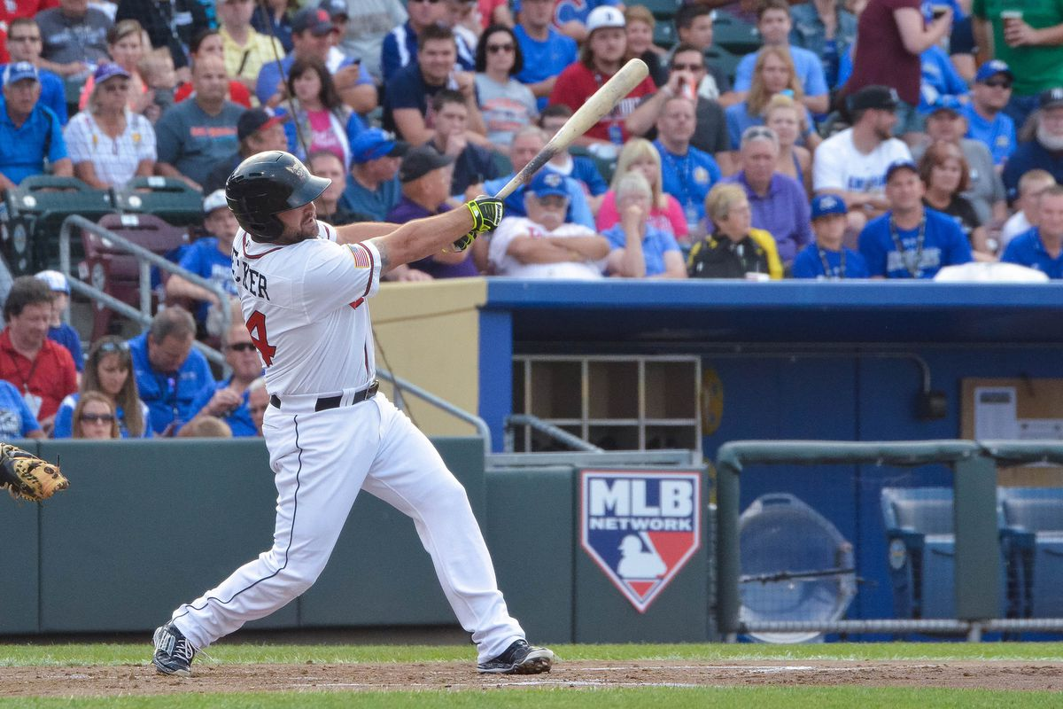 Cody Decker's last visit to Omaha was for 2015's Triple-A All-Star Game.