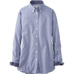"Uniqlo cotton check long sleeve shirt, <a href=""http://www.uniqlo.com/us/product/women-idlf-cotton-check-long-sleeve-shirt-133746003.html#66 /women/tops/shirts-and-blouses/collaboration/ "">$22.90</a>"