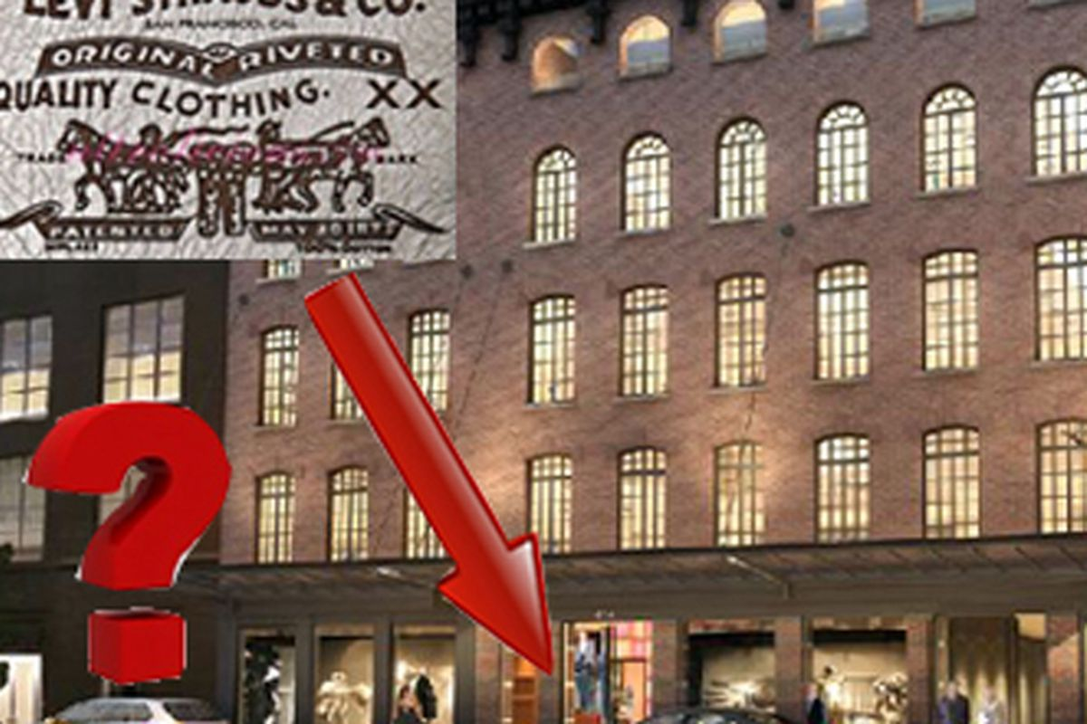 """Image via <a href=""""http://therealdeal.com/newyork/articles/levi-s-eyes-meatpacking-site-for-high-end-store-at-414-west-14th-street"""">The Real Deal</a>"""