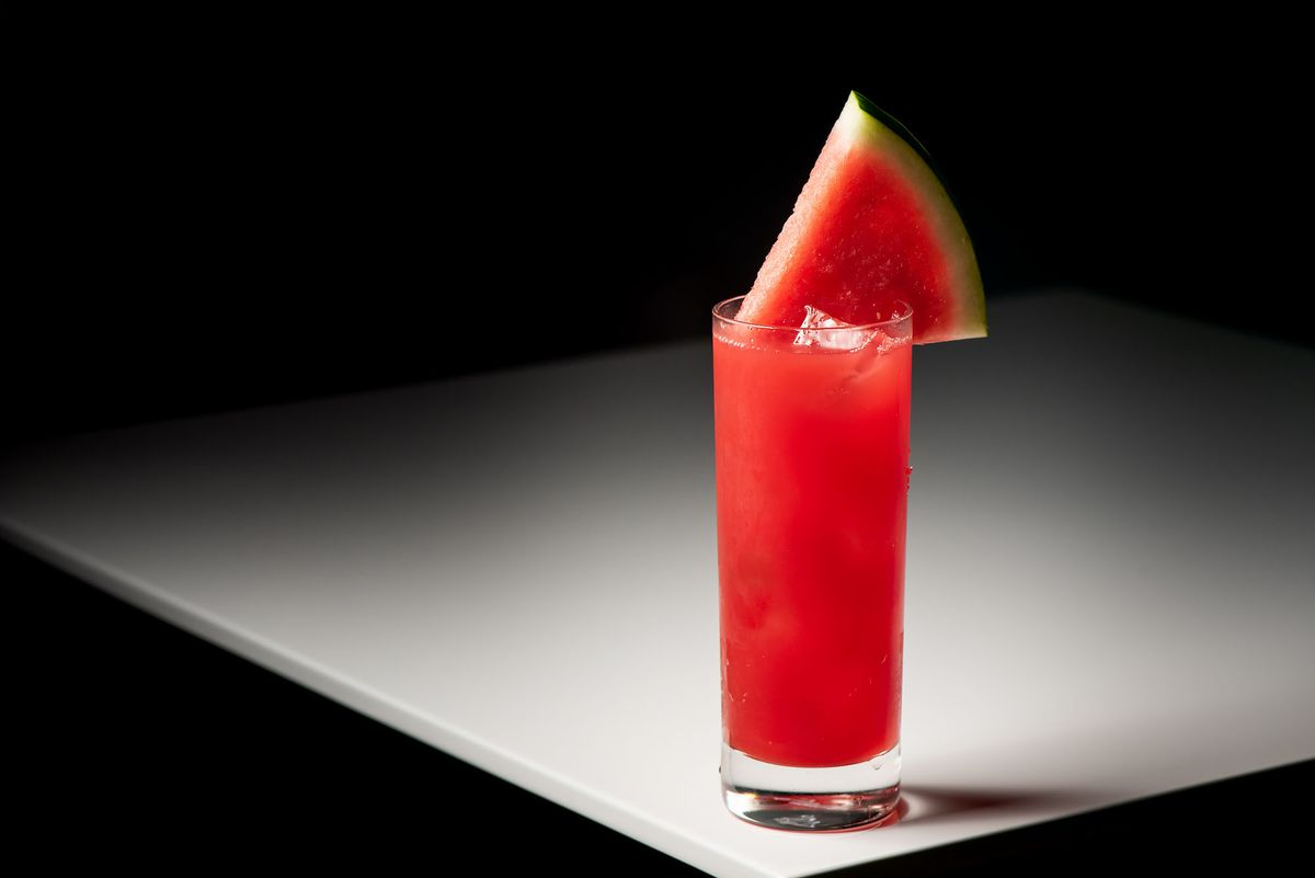 Viva Sandia with tequila blanco, aperol, and watermelon juice at Canary.