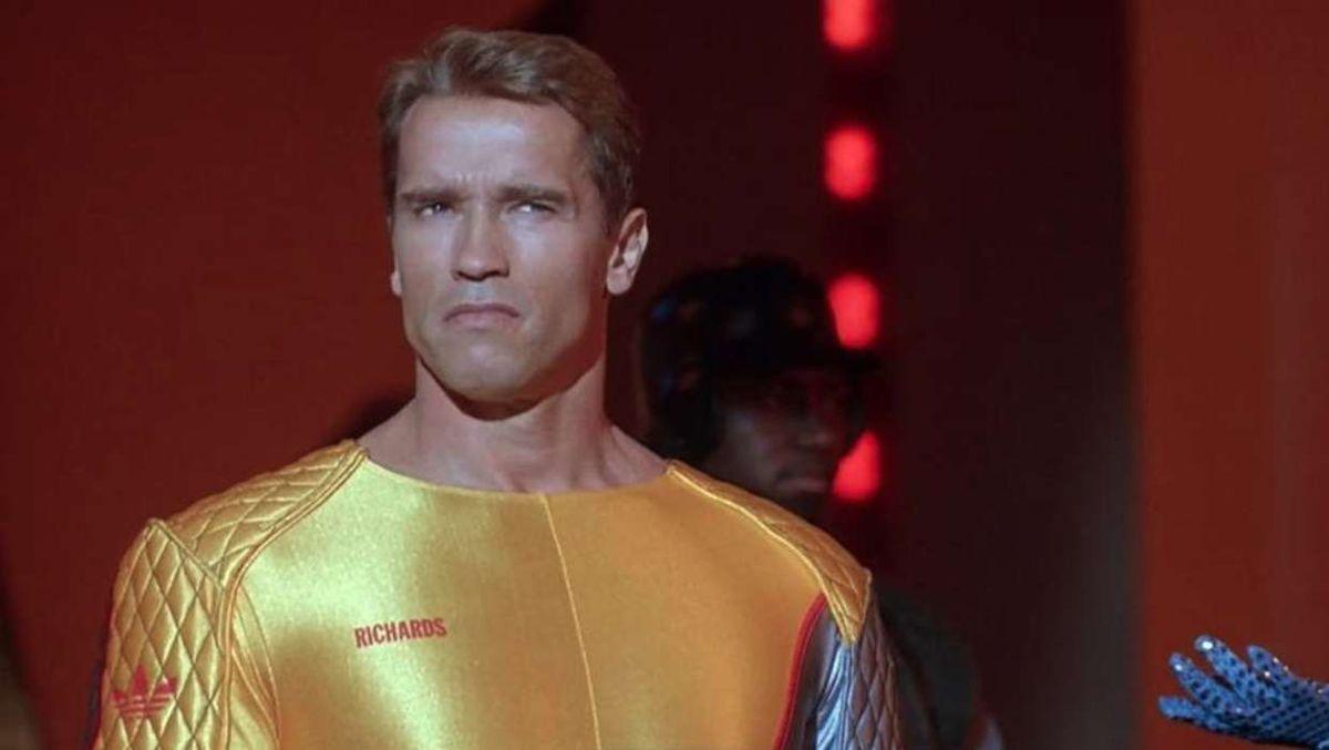 Archold Schwarzenegger as Ben Richards in The Running Man