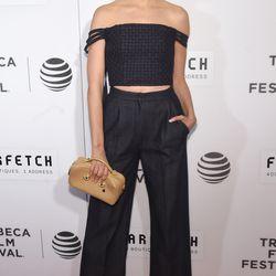 Karolina Kurkova wears ADEAM.