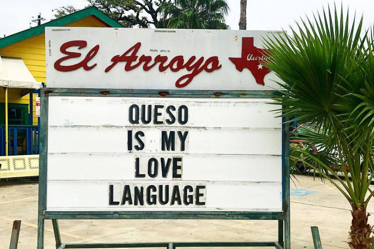 One of El Arroyo's signs