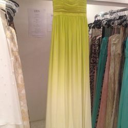 Ombre chiffon gown, $145