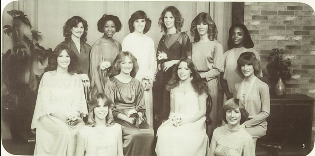 High school yearbook photo of senior class president Lori Lightfoot (top row, right) in Massillon, Ohio. | Provided photo