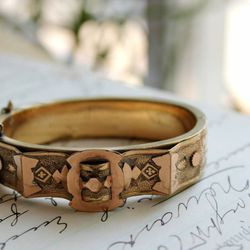 Etruscan style Victorian bangle, $85