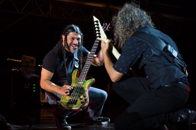 Robert Trujillo (left) and Kirk Hammett of Metallica (KennyBahr)