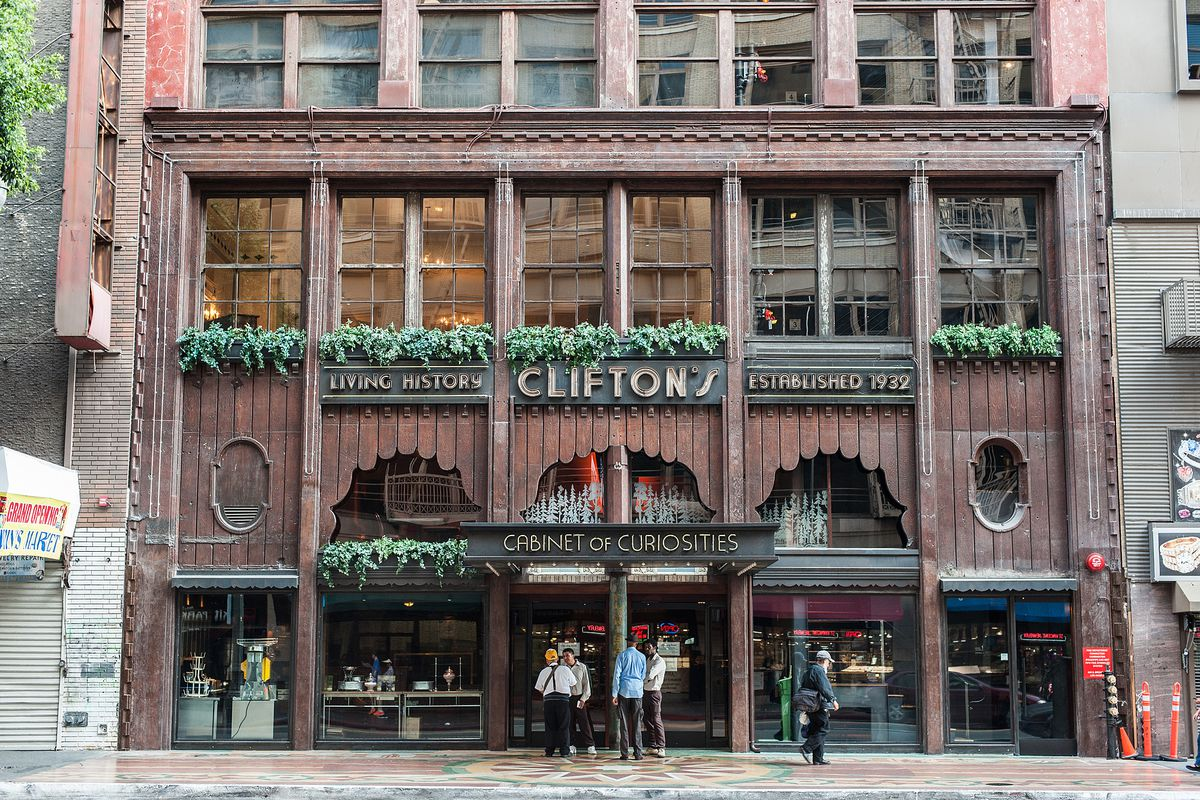 Outside Clifton's Cafeteria, Downtown