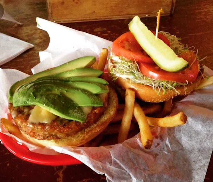 The veggie burger from Billy's on Burnet