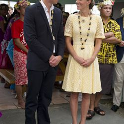 """Visiting Nauti Primary School in Funafuti, Tuvalu on September 18th, 2012. According to the palace, her dress is by """"an independent dressmaker."""""""