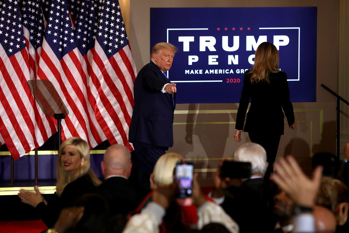 President Donald Trump Holds Election Night Event At The White House