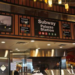 The Palazzo even gets its own New York Subway stop.