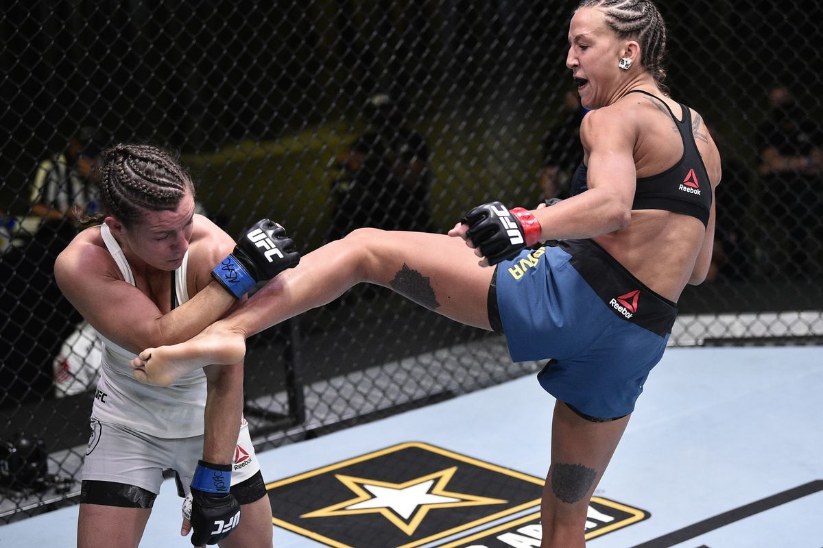 UFC on ESPN 10 video: Mariya Agapova head kicks Hannah Cifers ...