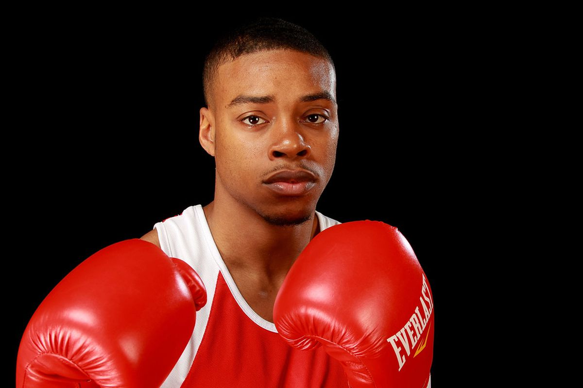 Welterweight Errol Spence put Team USA at 4-0 in early Olympic boxing results. (Photo by Ronald Martinez/Getty Images)