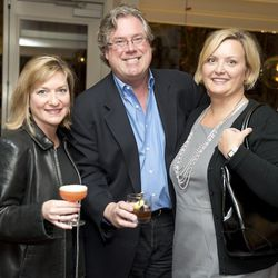 Lori and Tim Laird, host of Secrets of Louisville Chef's Live, with Jamie Estes