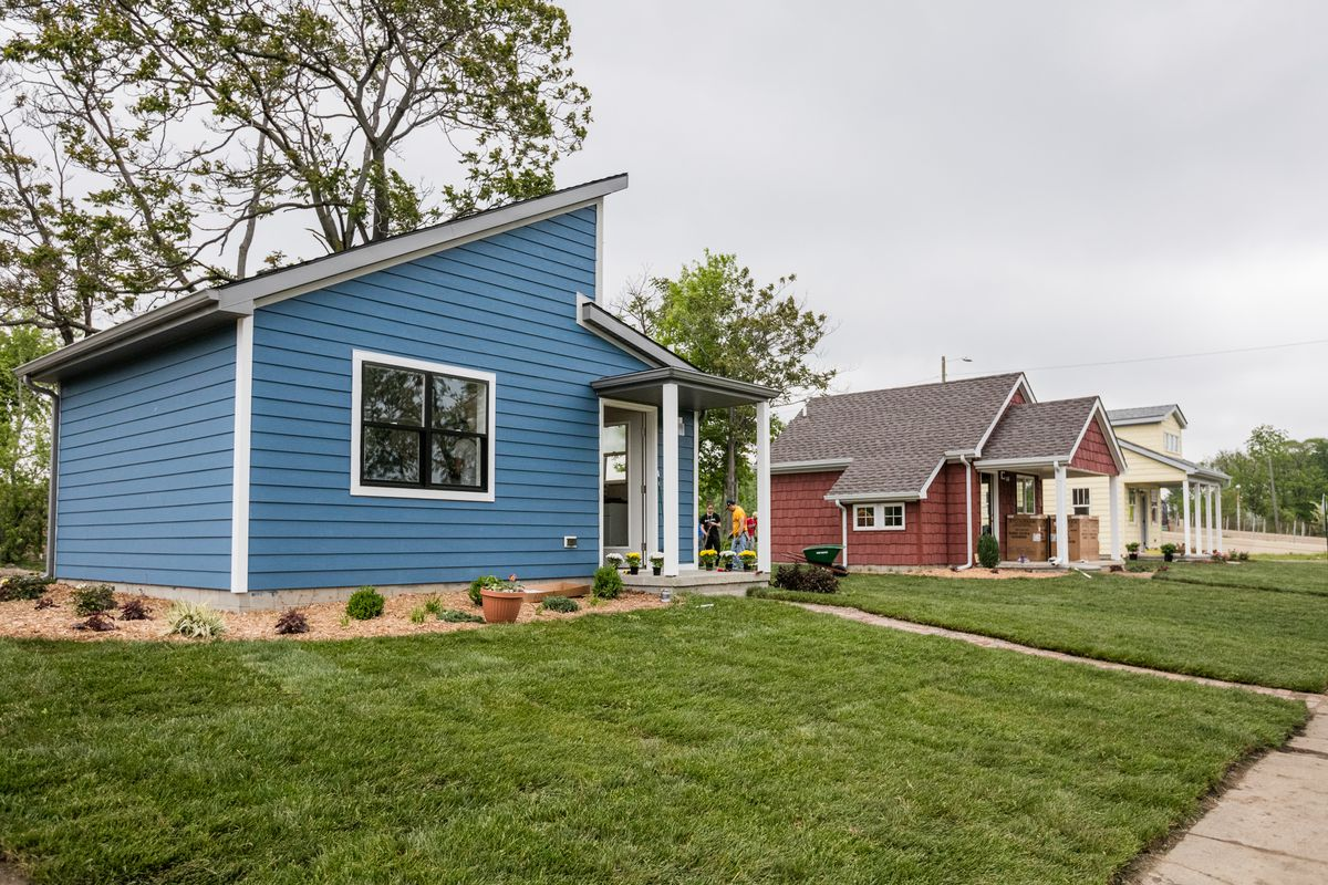 A tiny home community rises in detroit curbed detroit for Small new build homes