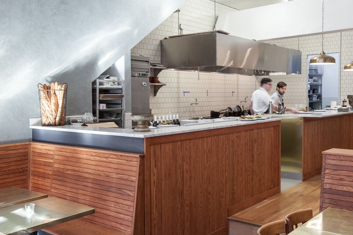 The open kitchen at Sous Beurre