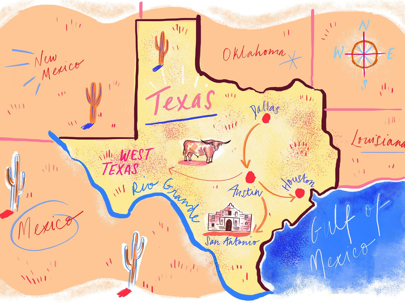 A Comprehensive Guide to Road Tripping Through Texas - Eater on